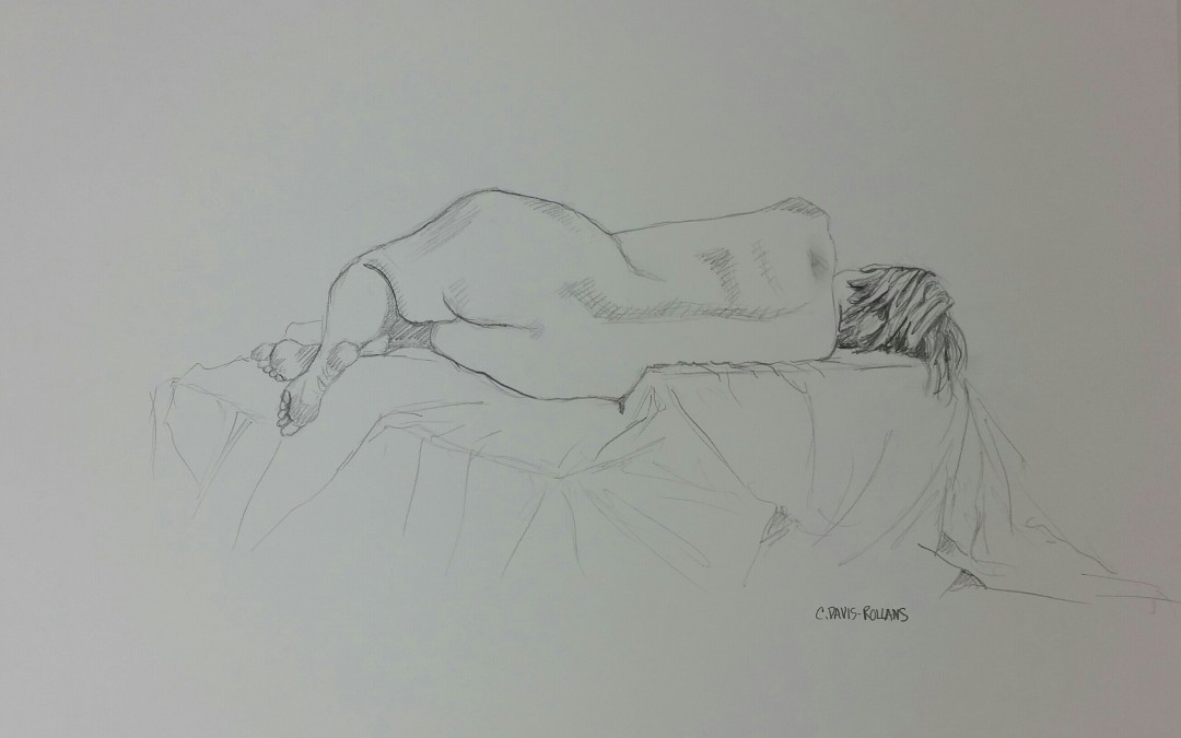 Live Sketch for Nude Study #1