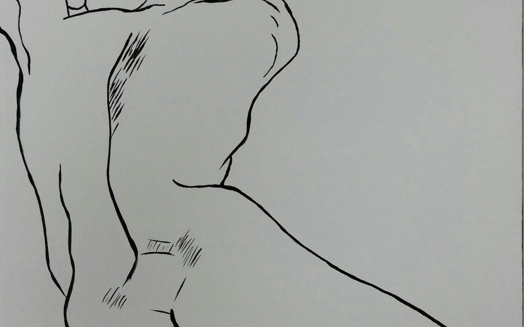 Figure #1 – Line Painting (female)